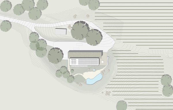 #TurnbullGriffinHaesloop #outdoor #exterior #landscape #plan  Cloverdale Residence by Turnbull Griffin Haesloop Architects