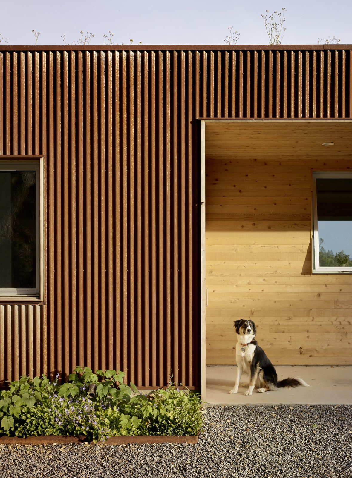 #TurnbullGriffinHaesloop #exterior #corten   Cloverdale Residence by Turnbull Griffin Haesloop Architects