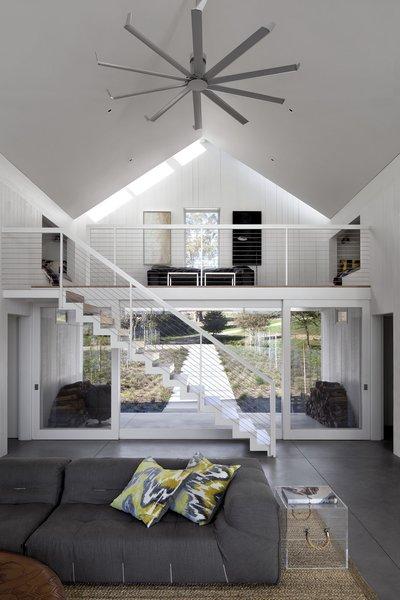 #TurnbullGriffinHaesloop #interior #livingroom #mezzanine #fan #stair