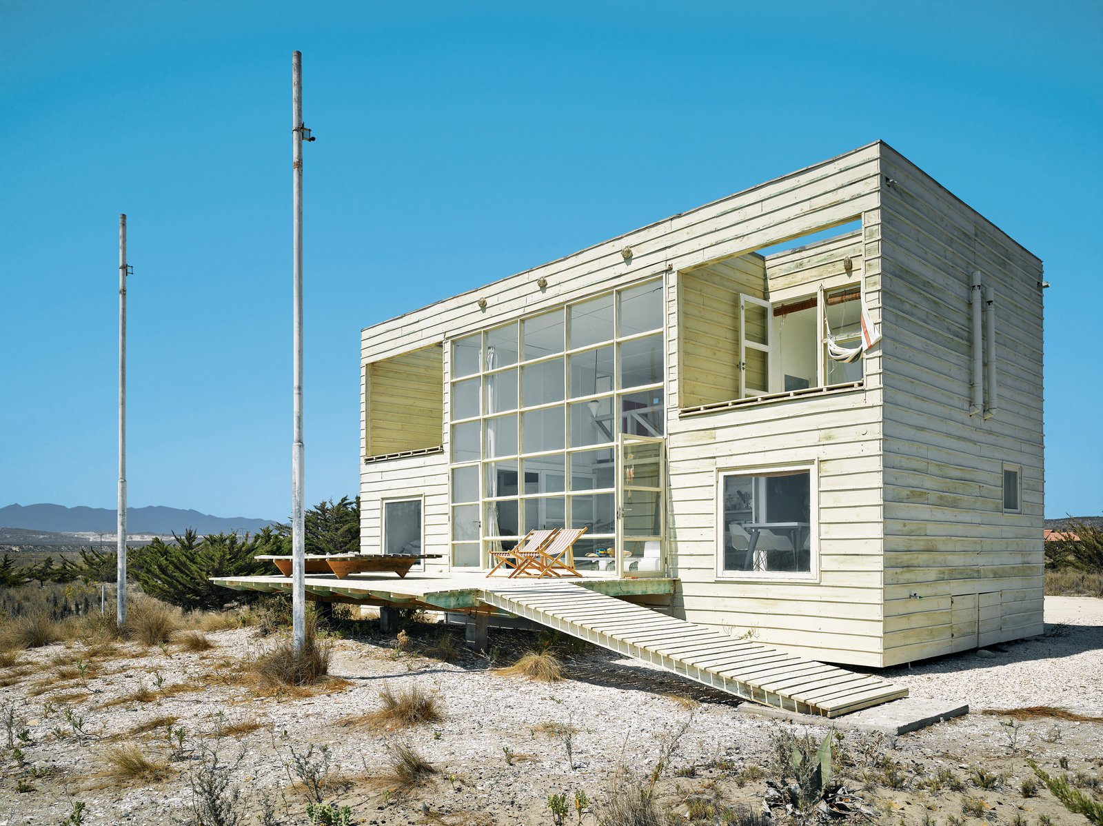 Mathias Klotz Architect. House for his mother.  Chile  Surf Shacks
