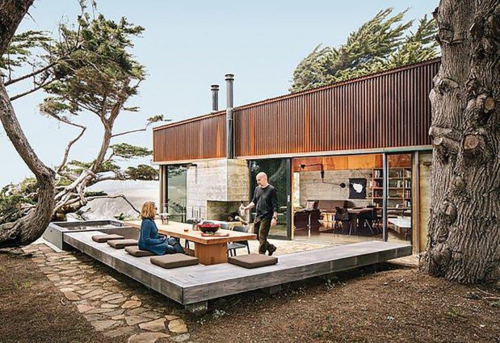 Norman Millar, and Judith Sheine - Architects.  Sea Ranch, CA  Surf Shacks