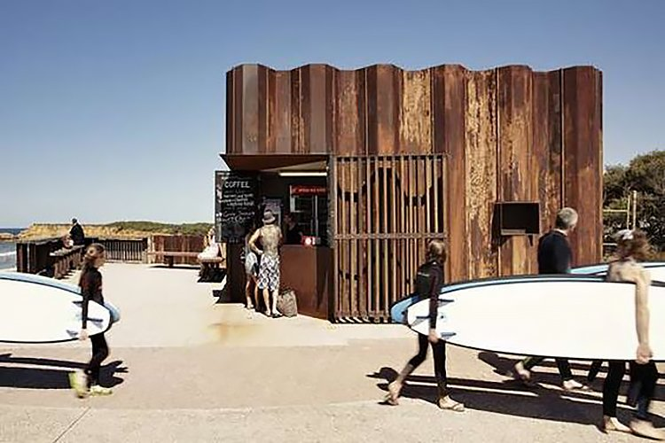 Third Wave Kiosk / Tony Hobba Architects  Surf Shacks