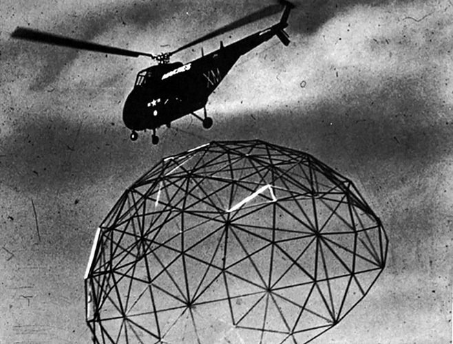 Buckminster Fuller dome transport  The Future was...