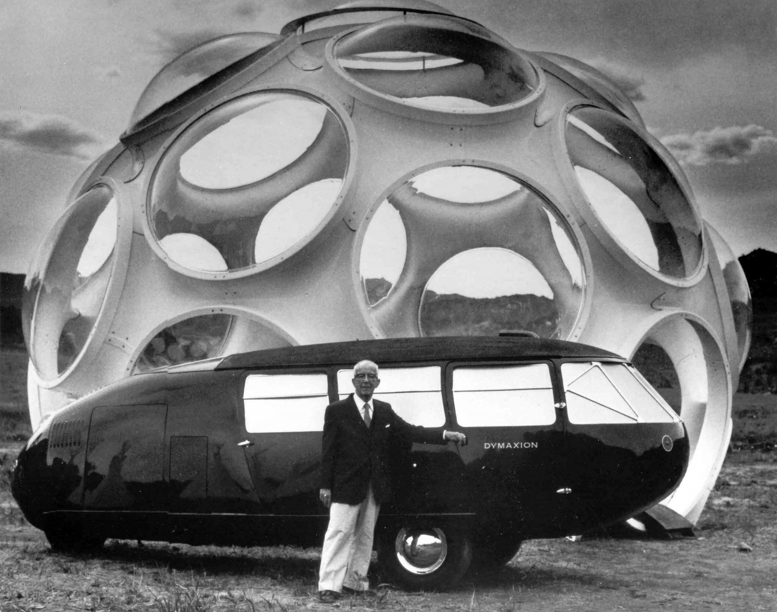 Buckminster Fuller with his Dymaxion Can and Fly Eye Dome  The Future was...