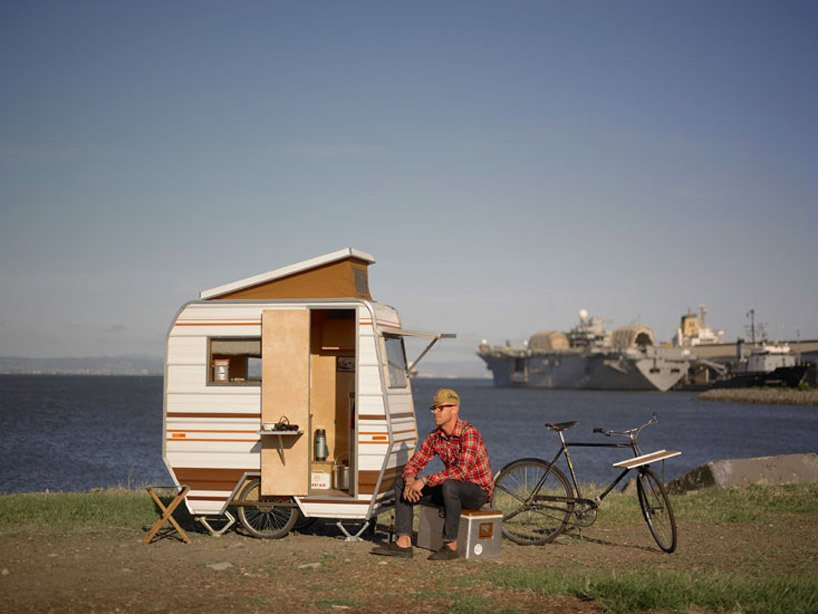 Artist Kevin Cyr's Bike Camper  Independence and Mobility