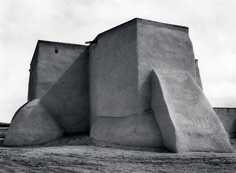 Ansel Adams, Saint Francis Church Ranchos de Taos, New Mexico, c. 1929  Architecture without Architects