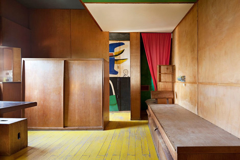 Le Cabanon  Living Rooms from Corbu