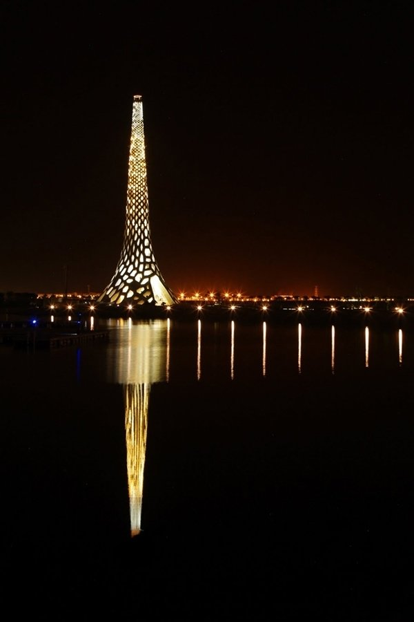 Designed by Urban Art Projects (UAP), KAUST Breakwater Beacon  Modern Lighthouses