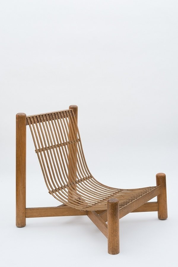 Low chair, c. 1050  Independent works of Charlotte Perriand