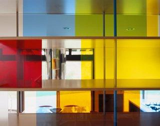 Plexiglass shelving detail