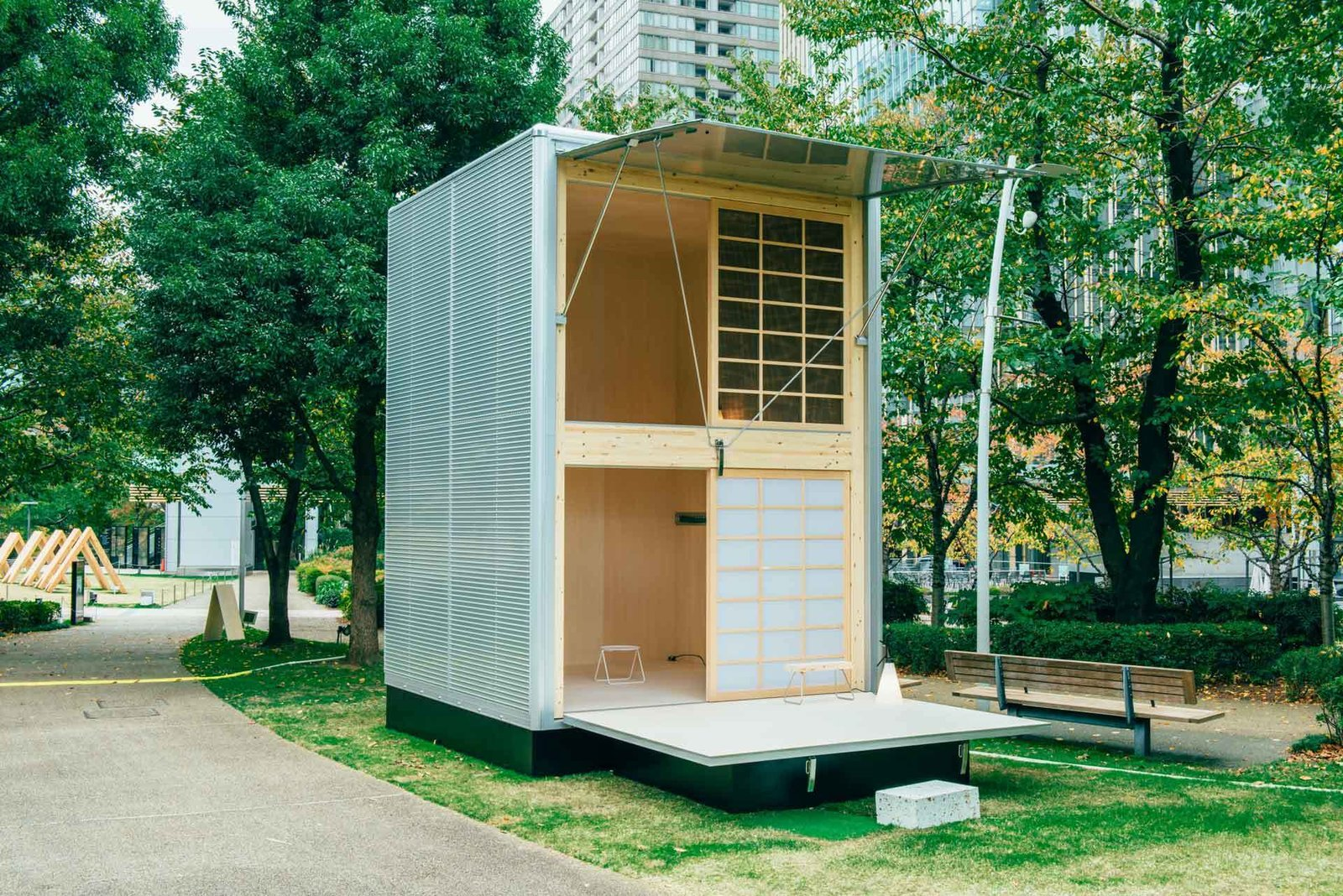 This aluminum MUJI Hut designed by Konstantin Grcic is small enough to not require a building permit.   Beautiful Prefabs
