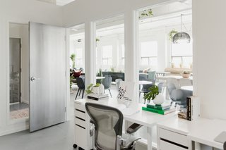 Inside Werklab's private offices: a Herman Miller chair paired with an Ikea desk.