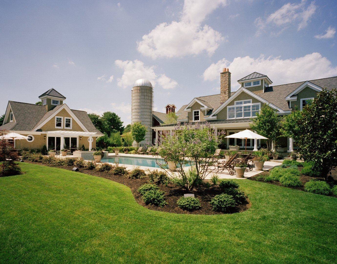 Yellow Brook Farm Poolside and Pool/Guest House  Yellow Brook Farm House by Timberpeg