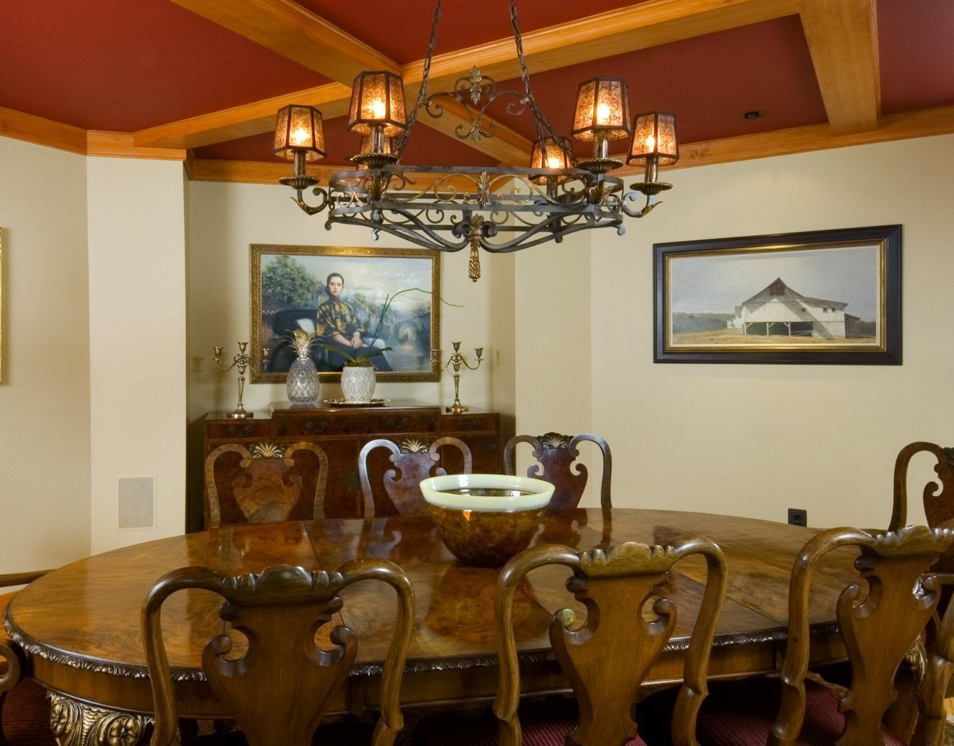 Formal Dining Room  Yellow Brook Farm House by Timberpeg