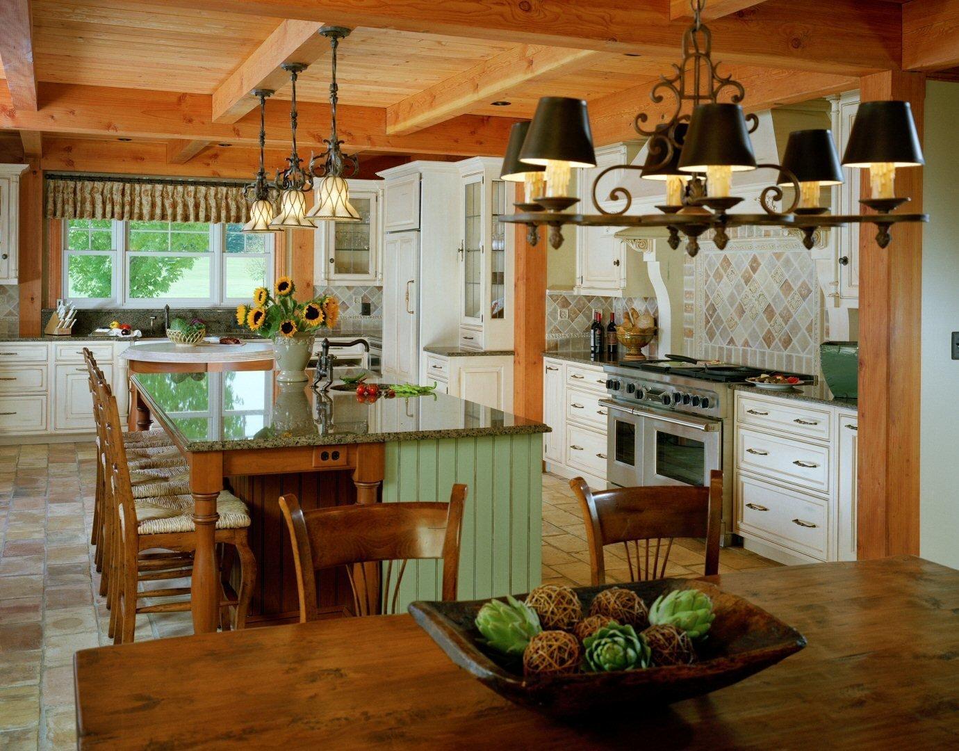 Timber Framed Kitchen  Yellow Brook Farm House by Timberpeg
