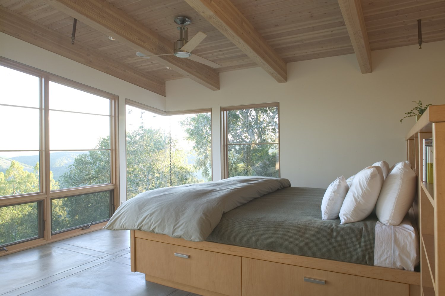 Bedroom, Storage, Bookcase, Ceiling, and Bed House Ocho  Best Bedroom Storage Bookcase Ceiling Photos from House Ocho