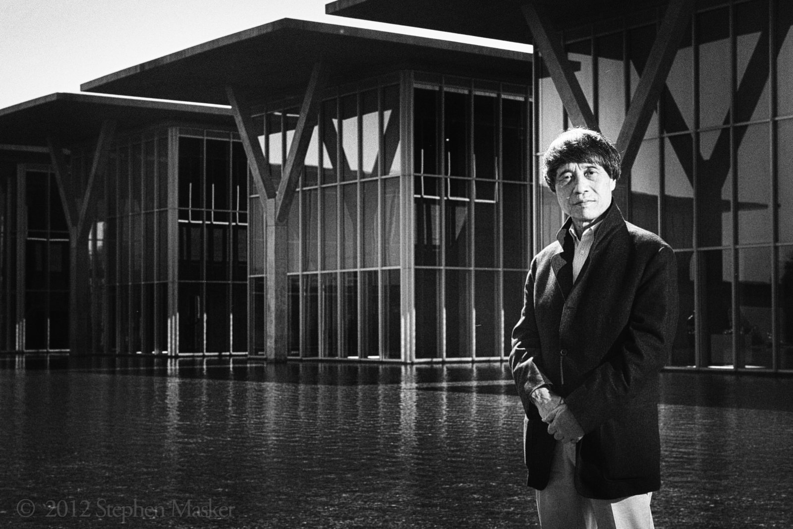 Japanese architect Tadao Ando stands in front of the The Modern, a structure he designed as a public art gallery in the Cultural District of downtown Fort Worth, Texas on Saturday, October 20, 2012.  Photo Stephen Masker  Photo 25 of 28 in Here's How to Pronounce the Names of 28 Famous Designers and Architects from portraits