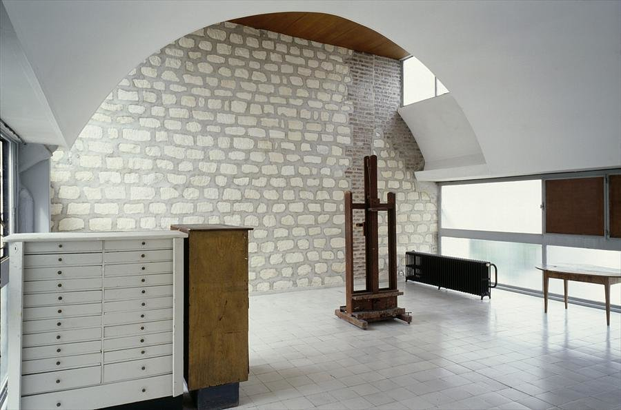Le Corbusier, apartment and studio, Paris.  Photo: Olivier Martin-Gambier  windows & skylights