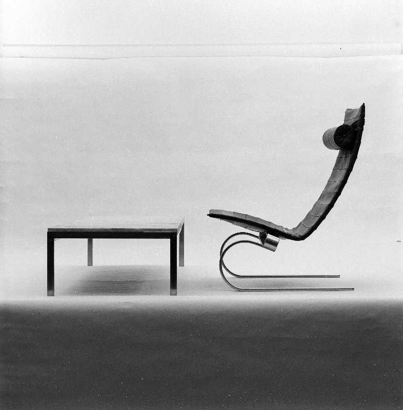 Poul Kjærholm, PK 20.  Photo: Keld Helmer-Petersen.  lounge chairs