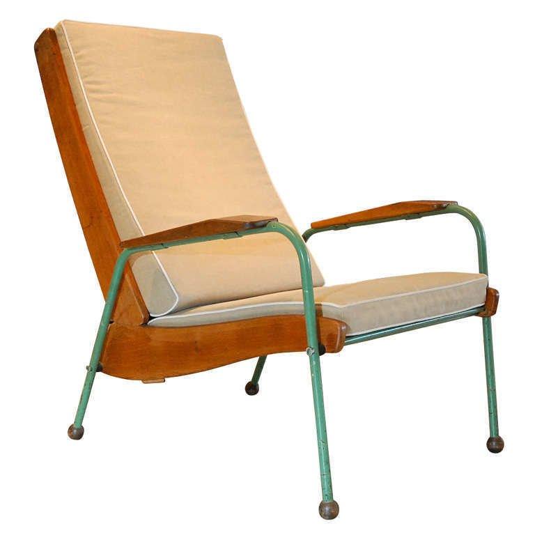 Jean Prouve, Visiteur Lounge Chair , France 1942.  Photo: Galerie Half, via 1st Dibs.  lounge chairs