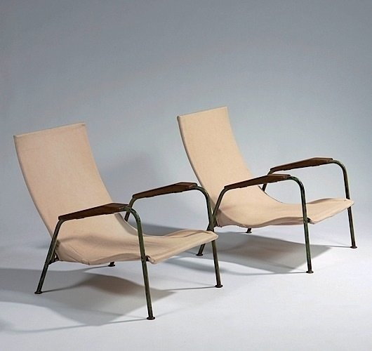 JEAN PROUVÉ Visitor Chair - tropical variant 1951 Photo: Artcurial  lounge chairs