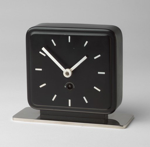 MARIANNE BRANDT Table clock, c. 1930. Photo: MoMA  time
