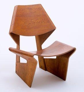 GRETE JALK Lounge Chair, c 1963. Teak plywood.  Photo: MoMA.
