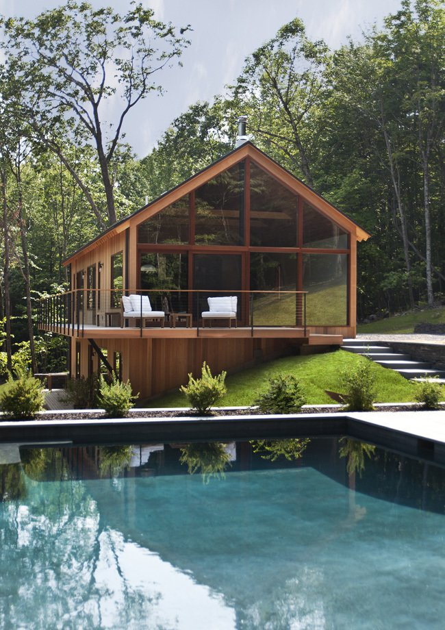 Hudson Woods, designed and built by Lang Architecture, is located in the midst of the Hudson Valley at the feet of the Catskill Mountains. Just a 2 hour drive from New York City.   Cabins & Hideouts