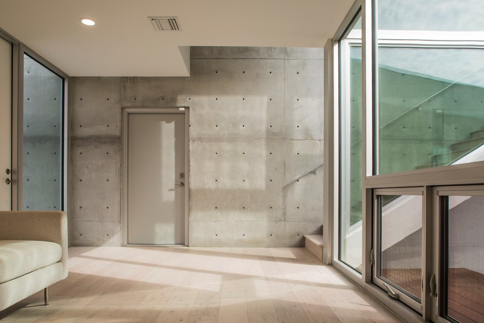 Downstairs entrance, looks out on the inner courtyard  The Guberman Kennedy Home