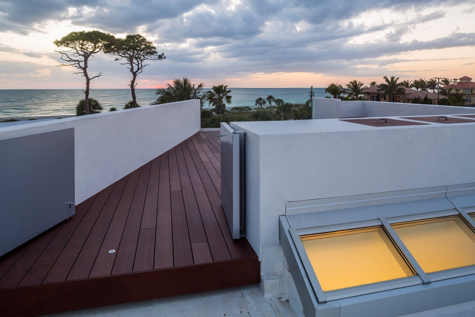 Upper terrace, accessed by external stairway off of the dining area  The Guberman Kennedy Home
