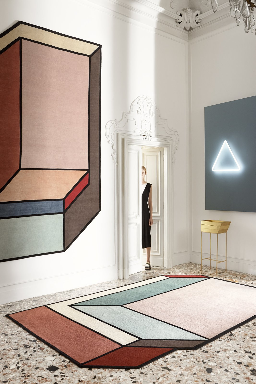 Visioni Series: Designed by Patricia Urquiola for CC Tapis  How to Frame Space With a Graphic Rug by Aileen Kwun