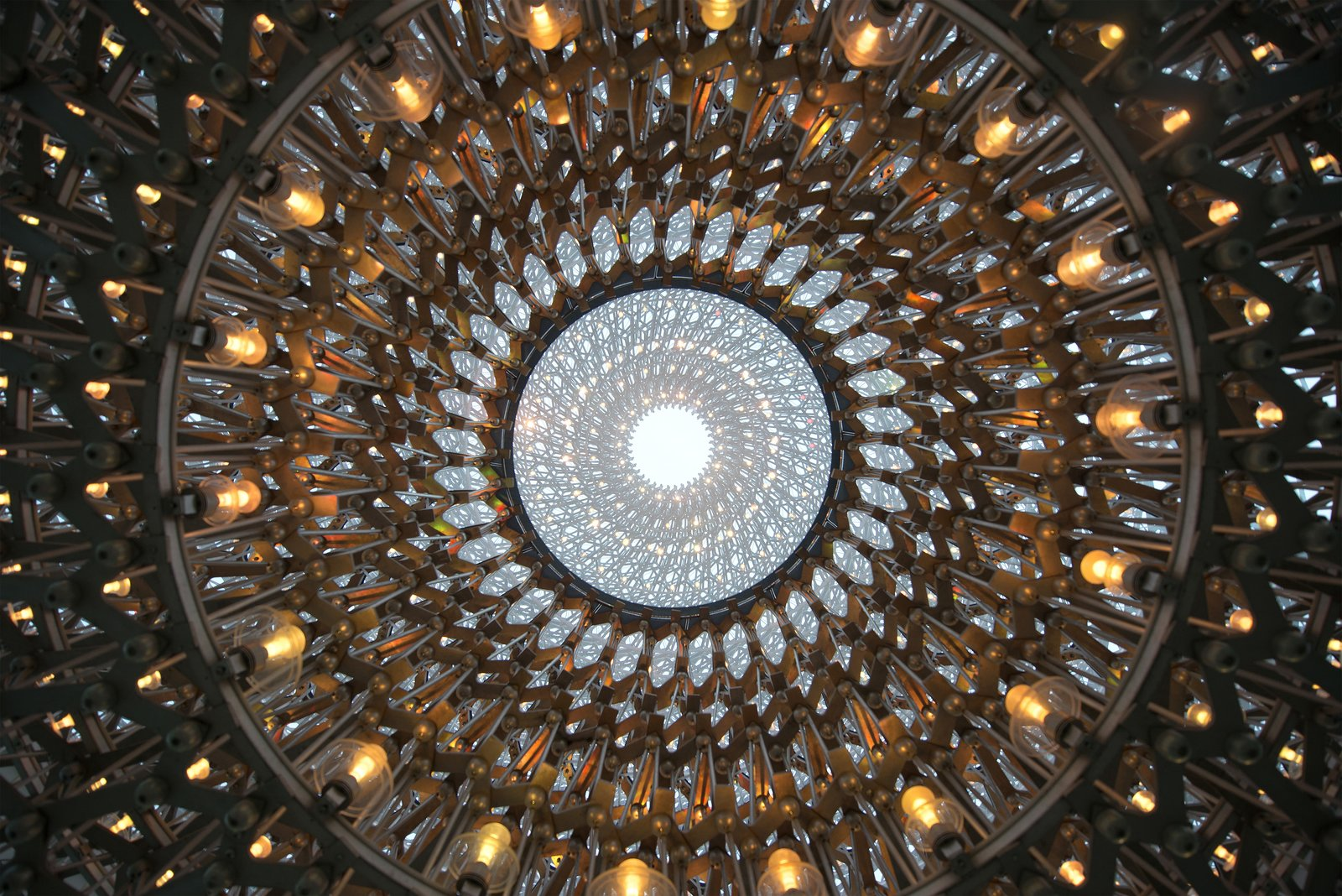 An oculus allows visitors to see the sky above.  Photo 4 of 5 in This Hive Makes Visitors a Part of the Swarm