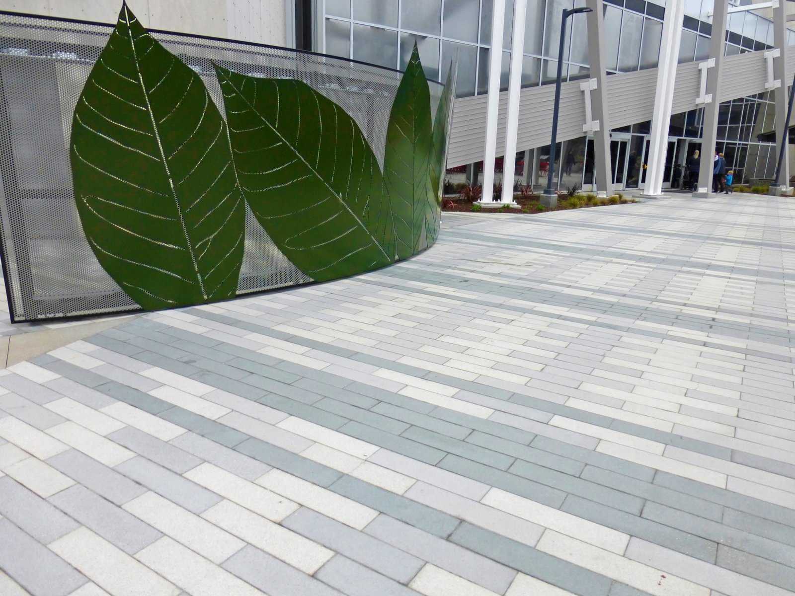 Large CalArc pavers line the Google campus in Mountain View, California.  Photo 6 of 7 in Setting Creative Solutions in Stone