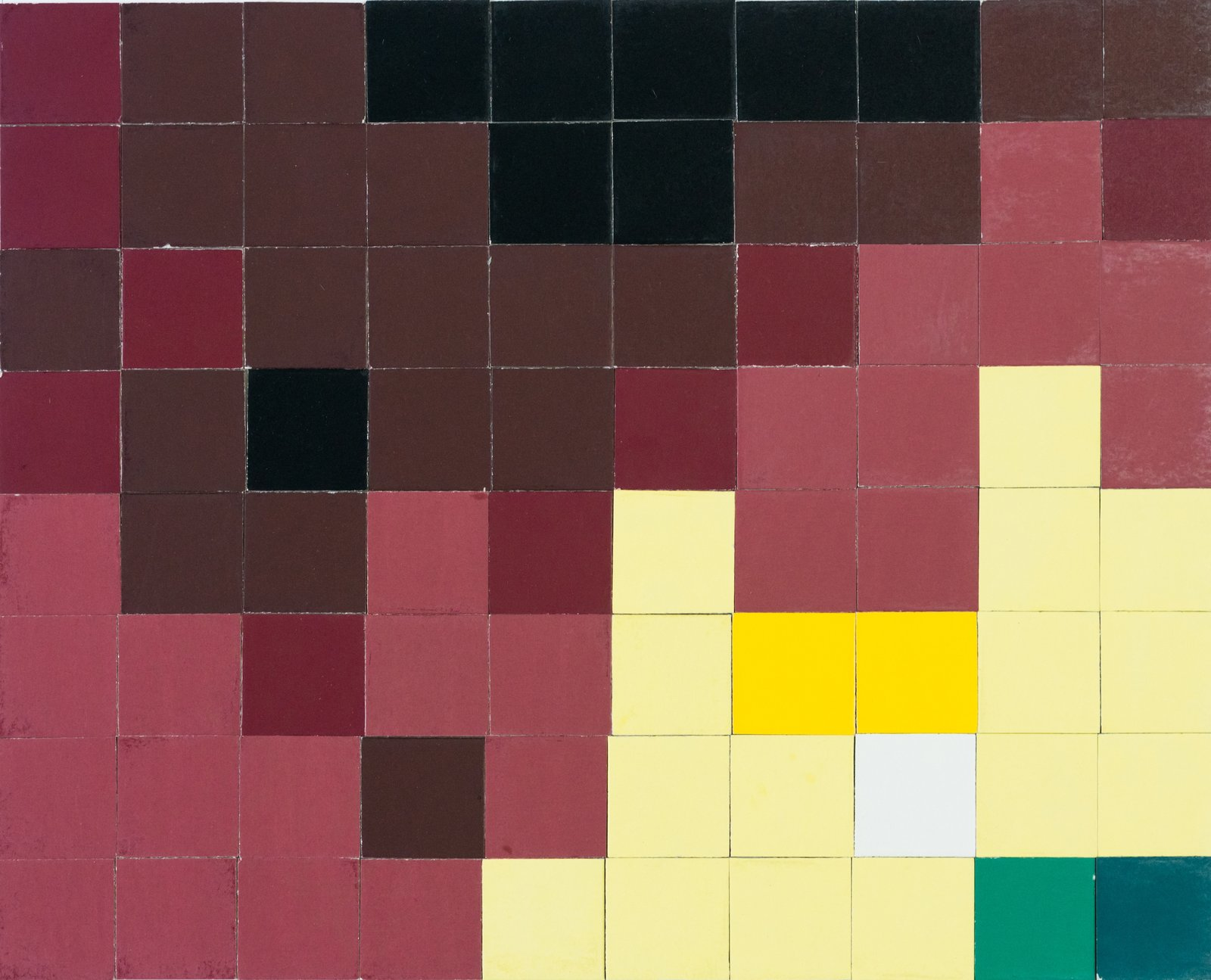 For the Mosaic Construction Test, the architects used one-inch tiles in 22 colors to create a design which,  Photo 6 of 14 in This Book Unearths a Midcentury Personality Study on Architectural Giants