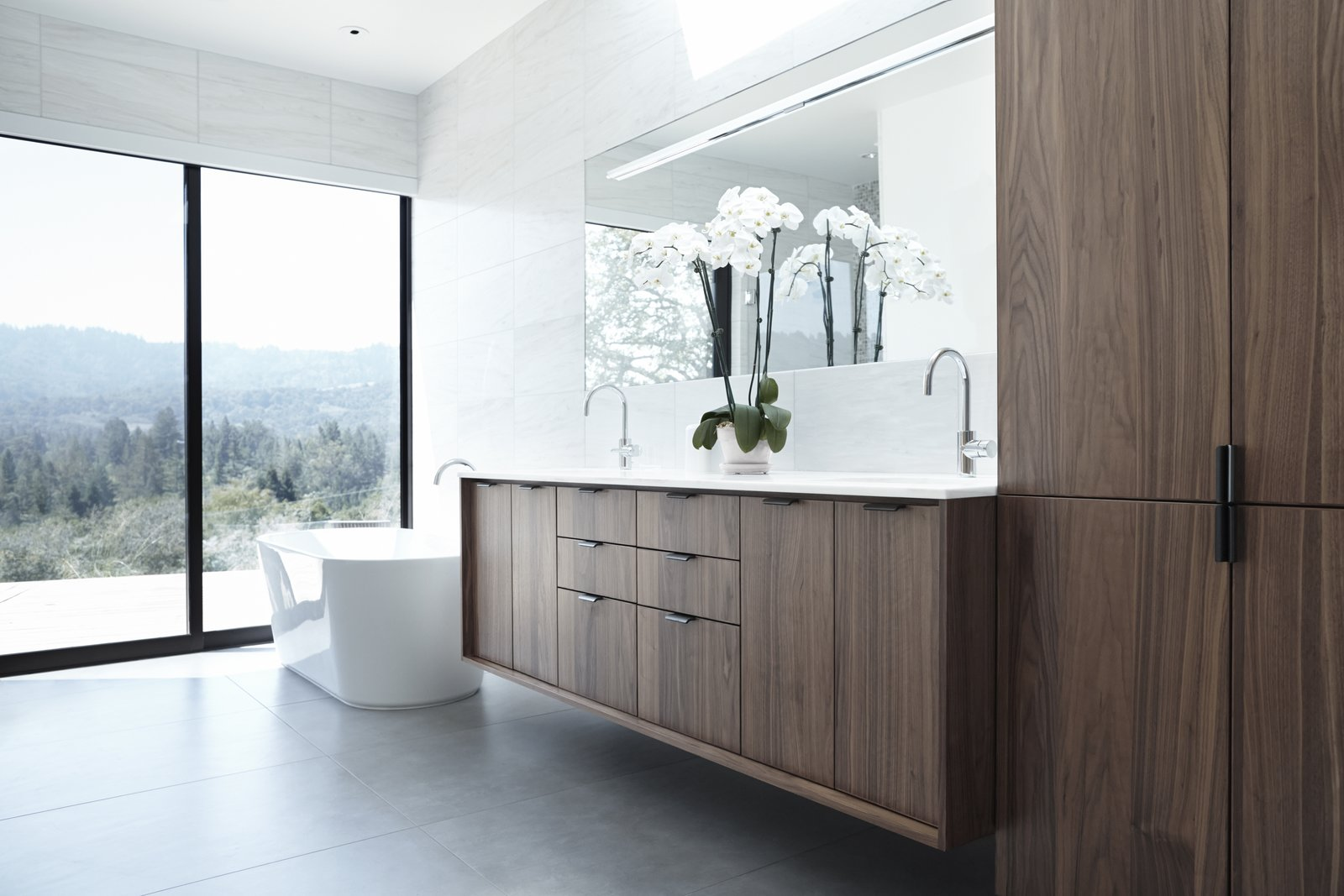 Henrybuilt upholds premium quality standards in craft, materials, and installation, producing furniture that will withstand use, especially in high-traffic areas such as the bathroom. Unique finishes contribute to durability.  Photo 5 of 9 in The Whole House System That Unifies Every Room