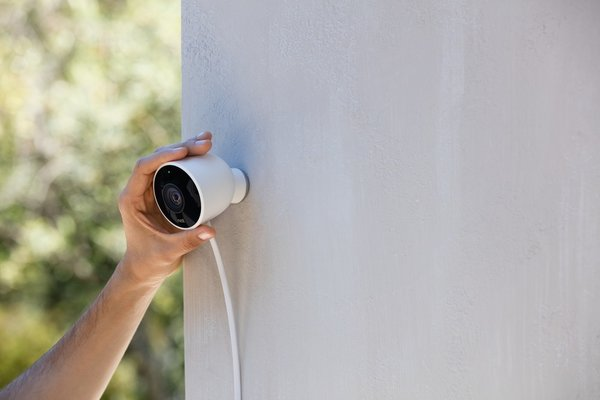 The designers put Nest Outdoor Cam through accelerated testing to ensure that it could withstand extreme weather. The camera is affixed by a powerful magnet, making the installation process accessible to geeks and non-geeks alike. The flat cord can fit through windowsills and sit flush against a surface.  Photo 2 of 5 in Keep an Eye Out With the New Nest Cam
