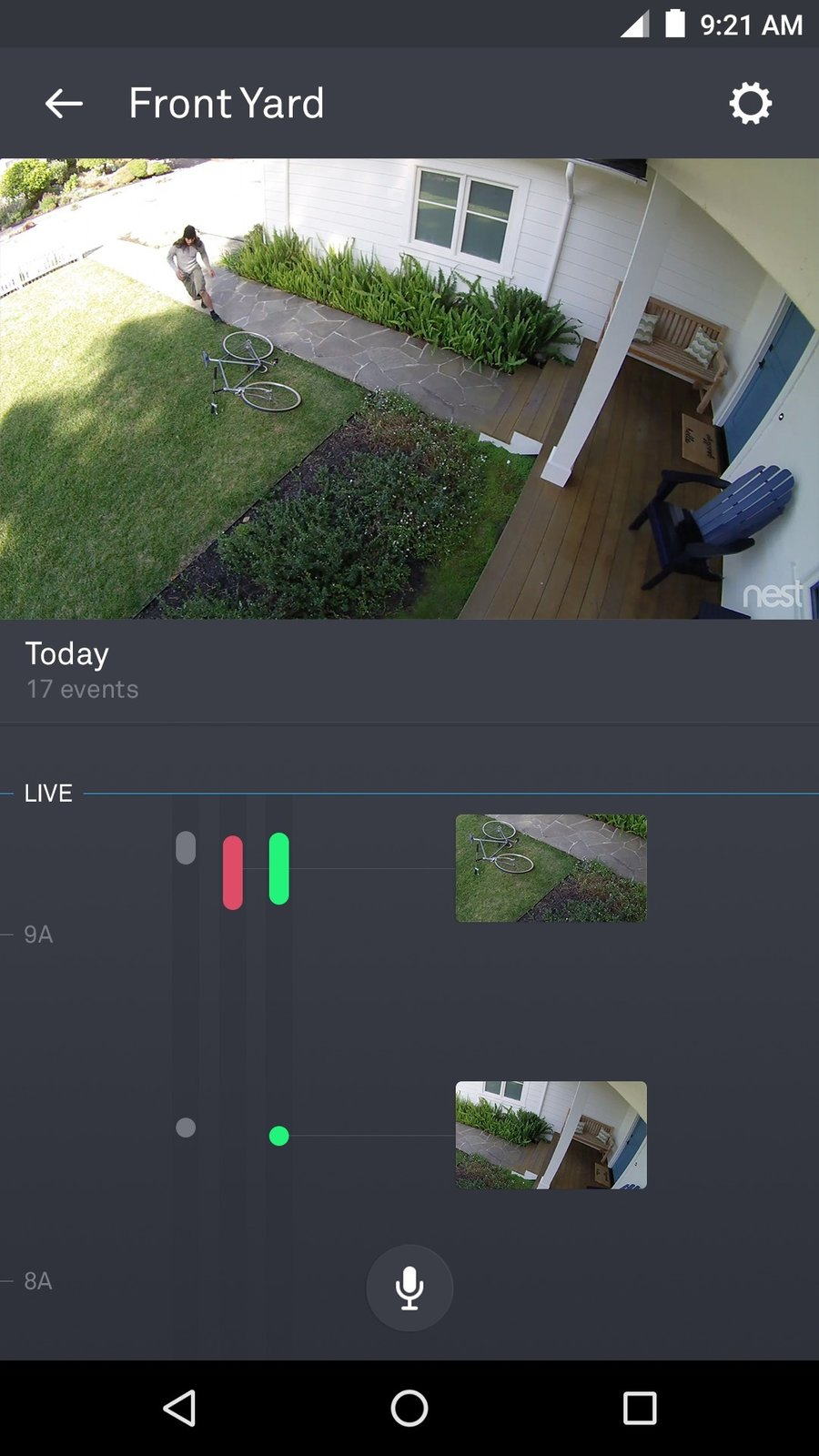 All Nest Cam owners get a free 3-hour video history with Sightline. Nest Aware subscribers are able to scroll further through a continuous timeline with key moments highlighted through frames. Sightline allows users to zoom in on and replay important moments and delineate Activity Zones to monitor.  Photo 4 of 5 in Keep an Eye Out With the New Nest Cam
