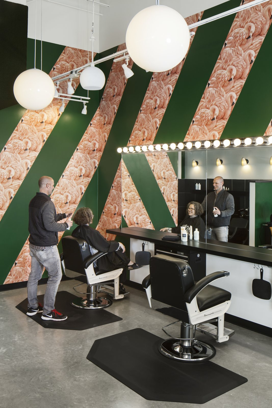 Birds Barbershop offers its employees competitive pay, health insurance, a retirement plan, and ongoing education. Employees get free haircuts and are promoted from within.  Photo 6 of 7 in A Barbershop That's a Cut Above