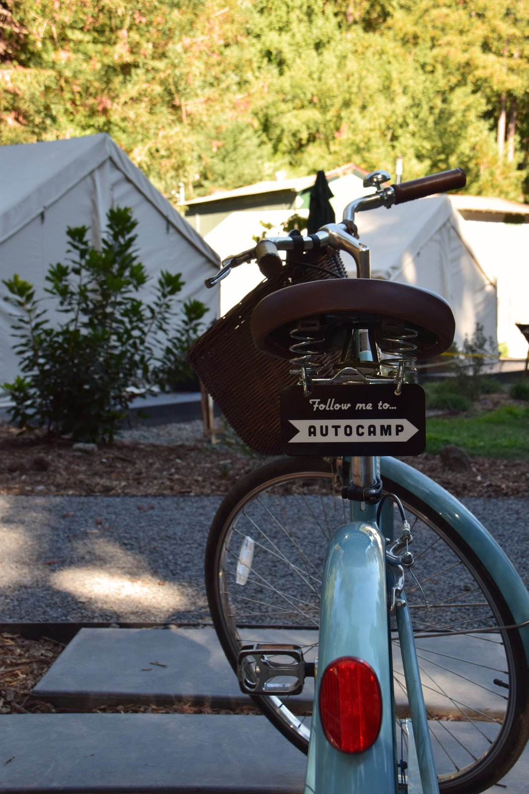 Outdoor A number of bicycles circulate through AutoCamp, offering guests the chance to ride their way to downtown Guerneville.  Photo 10 of 10 in At AutoCamp, Sleep in a Slice of Americana for $225 a Night