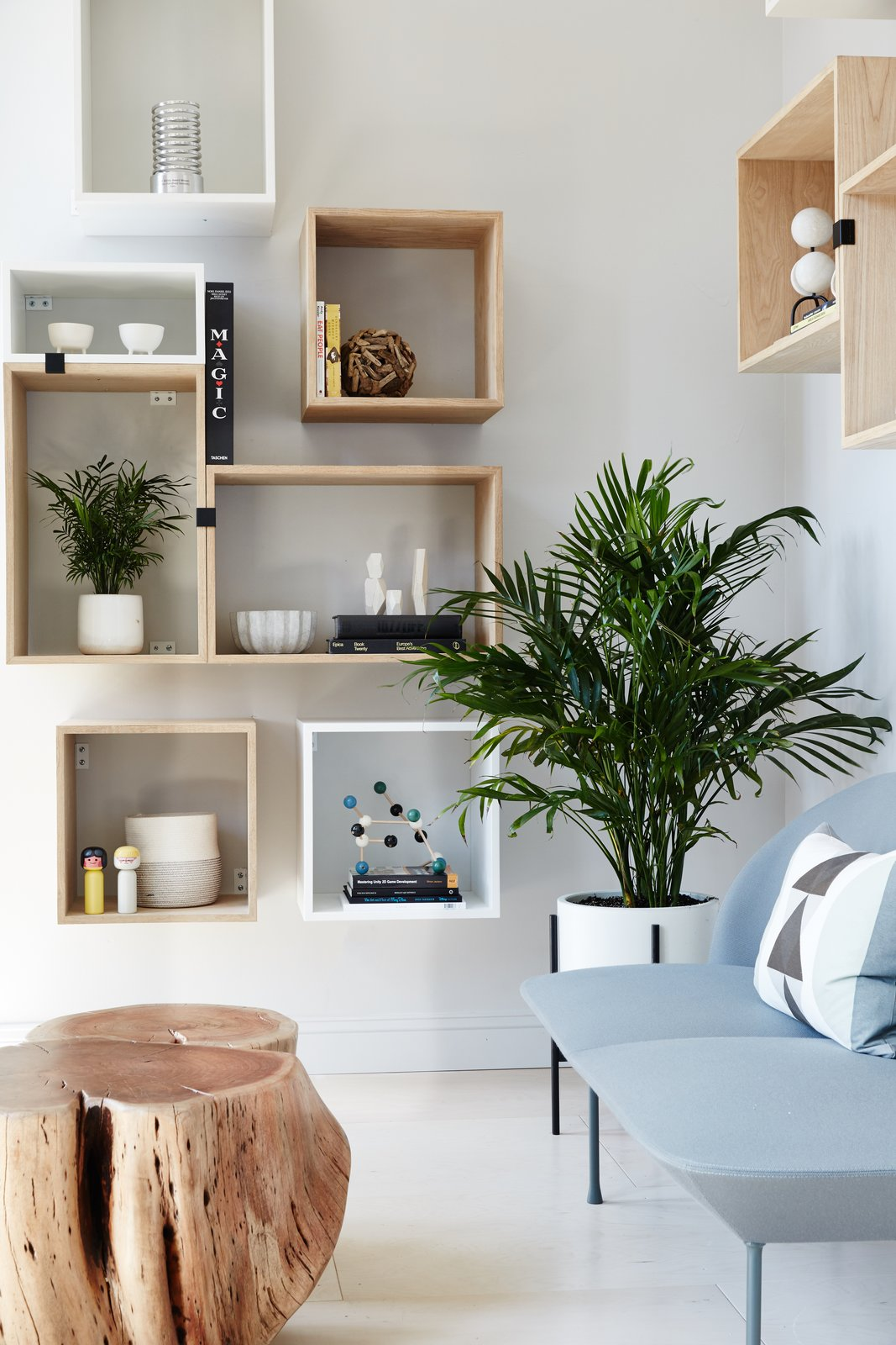 Muuto Stacked Shelving creates a flexible and playful display area.  Photo 7 of 12 in Space to Work, Room to Play