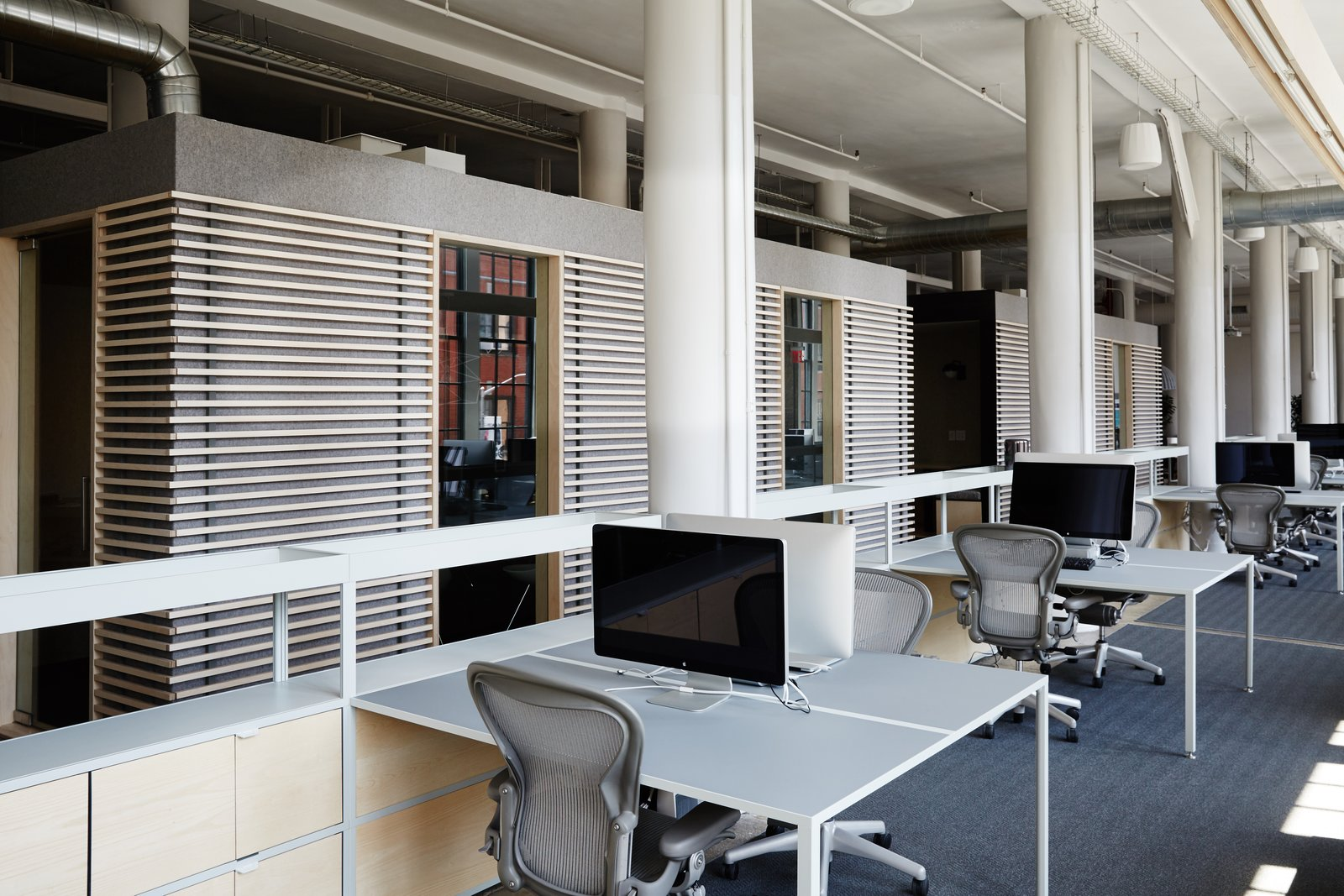 A HAY New Order desk system furnishes the workspace.  Photo 8 of 12 in Space to Work, Room to Play