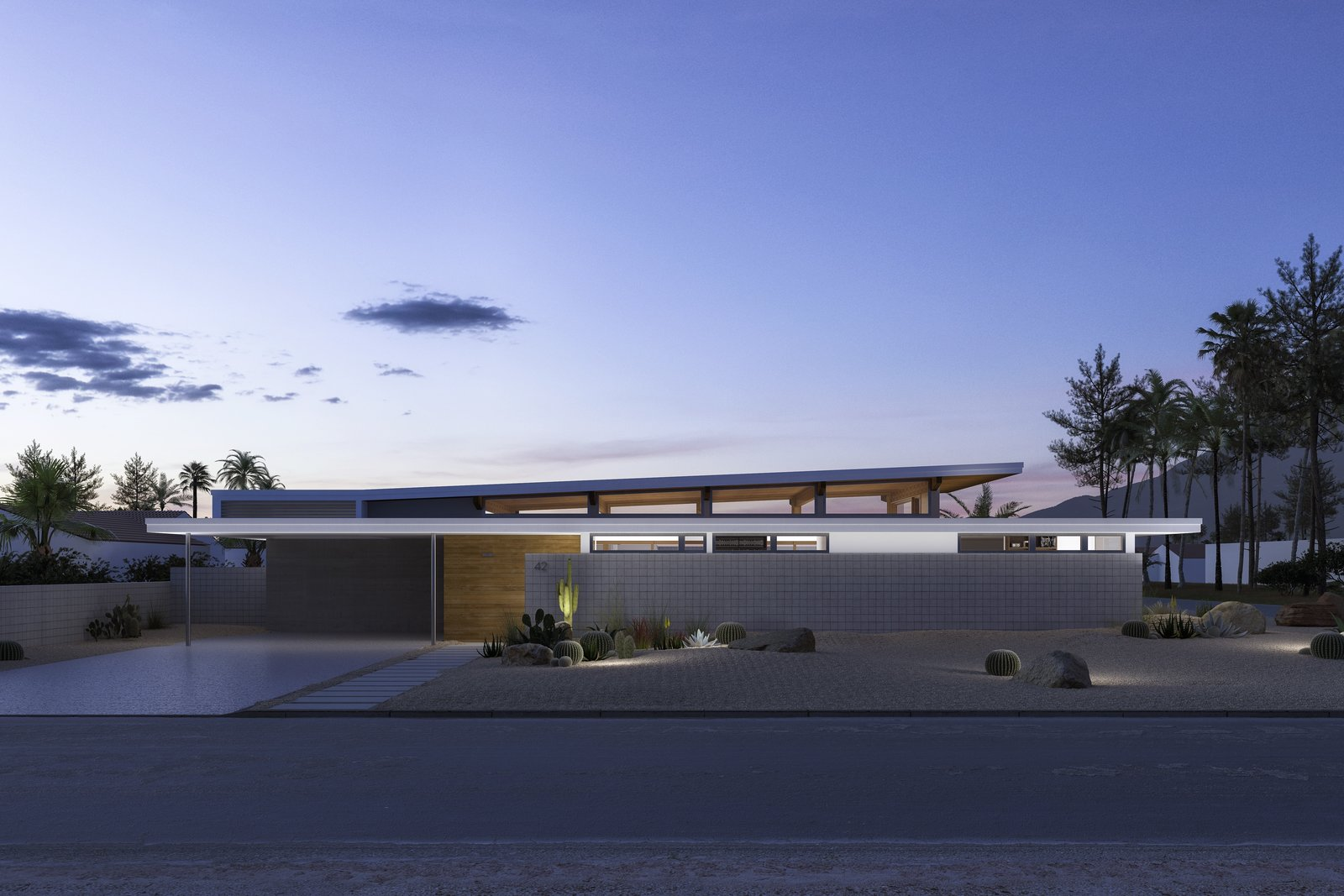 """Exterior, House Building Type, and Mid-Century Building Type """"I see a home like a person,  Photo 4 of 4 in Dwell x Turkel Design: Breaking Ground in Palm Springs"""