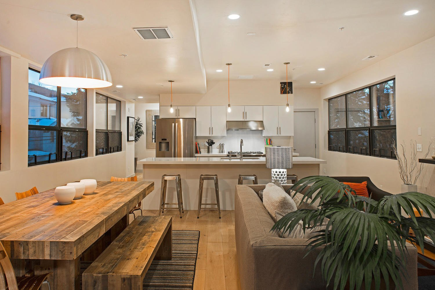 Preston and his friends at Icon Homes opted for an open floor plan that integrates the living, dining, and kitchen areas.  Photo 4 of 9 in Be at Home With Park City's Slopes For $1.6M