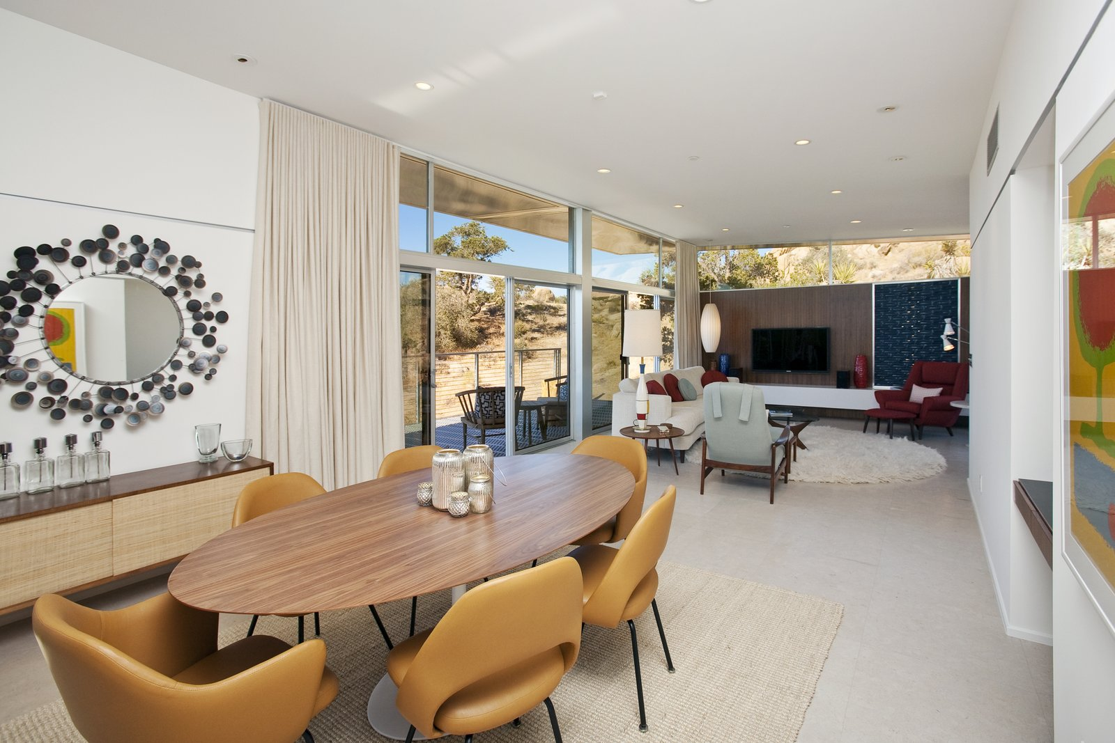 The Home Features An Open Floor Plan With A Combined Living Room Dining