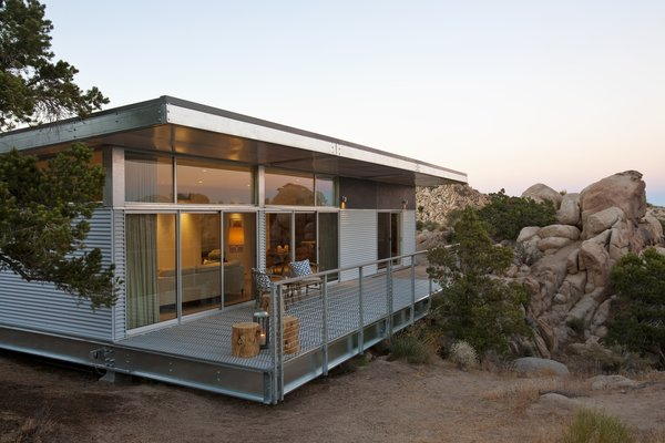 Manufactured with up to 70 percent recycled steel, the hybrid prefab Graham Residence by Blue Sky Building System limits construction waste to the factory, where it's recycled.