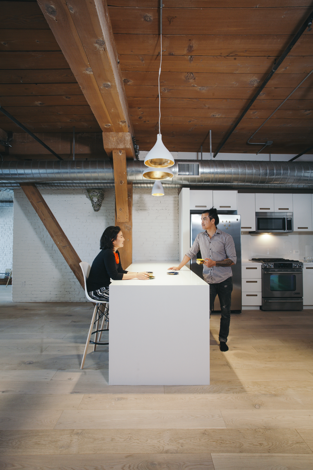 The kitchen features  Photo 7 of 10 in Step Inside One Couple's Game-Changing Live/Work Loft