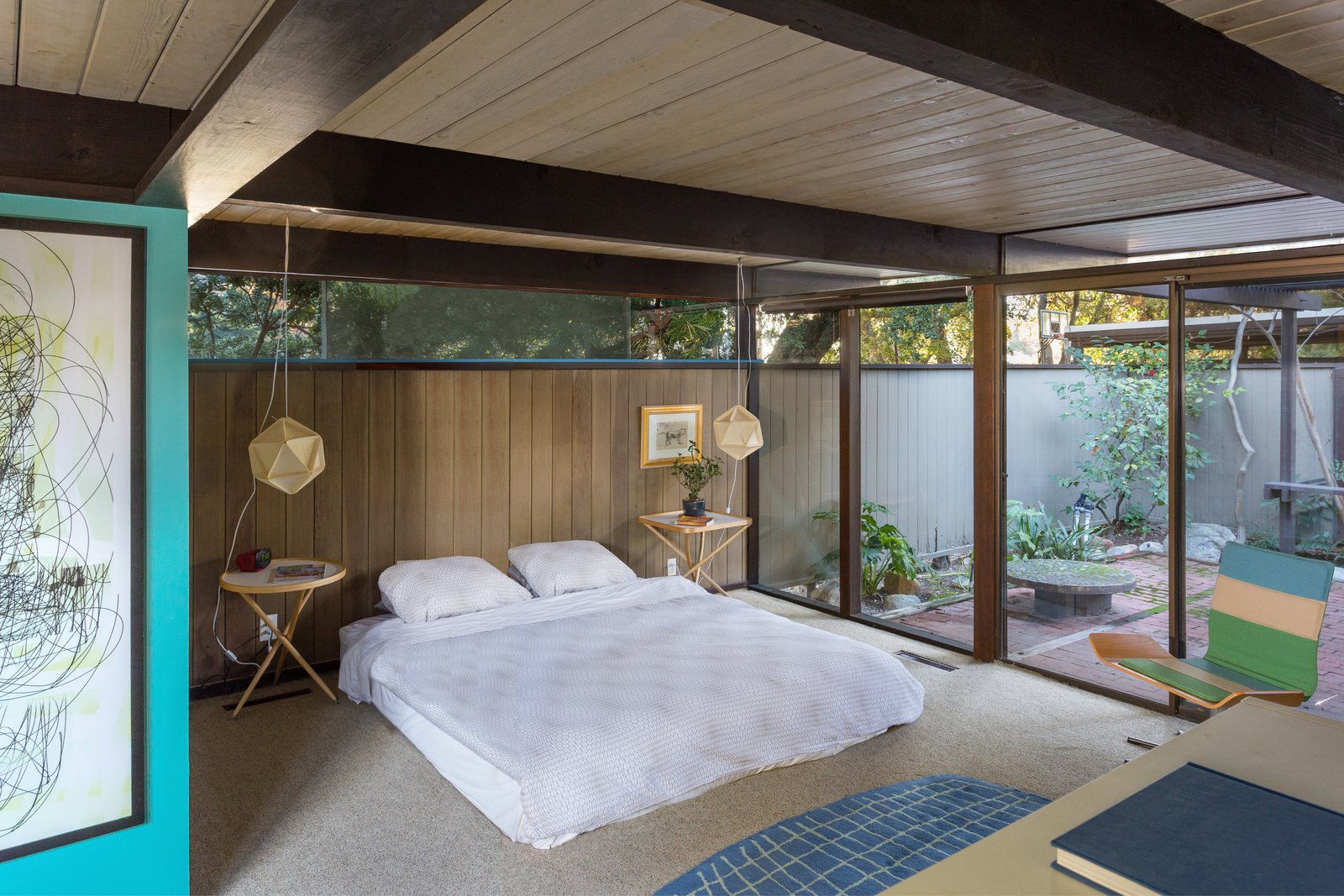 The master bedroom has the benefit of a private courtyard.  Photo 10 of 11 in Snag This Midcentury Stunner in Southern California For $799K