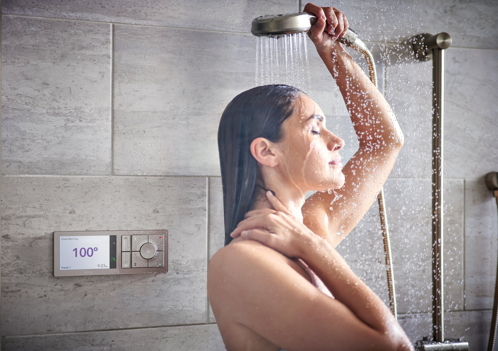 The Wi-Fi connected system allows  Photo 4 of 5 in Create Your Personal Oasis With U by Moen Shower