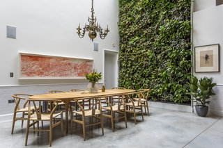 The living wall designed by Scotscape provides a refreshing backdrop to the dining area.