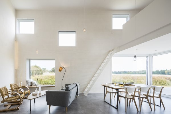 The 1,130-square-foot home features a spacious main living area